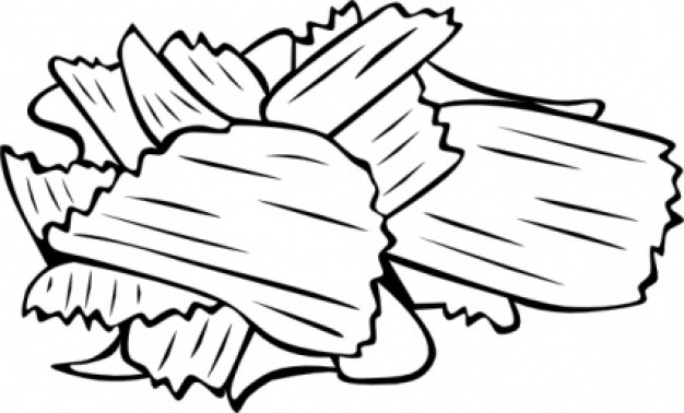 Chips clipart black and white. Panda free images fastfoodclipartblackandwhite