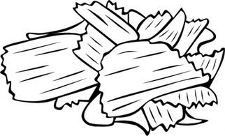 Chips clipart black and white. Station