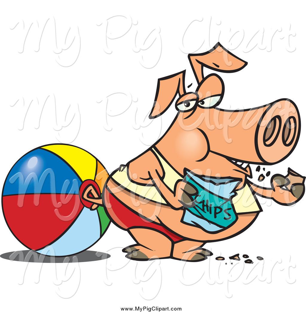 Chips clipart cartoon. Swine of a fat