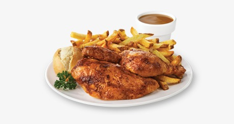 Fries french food png. Chips clipart chicken