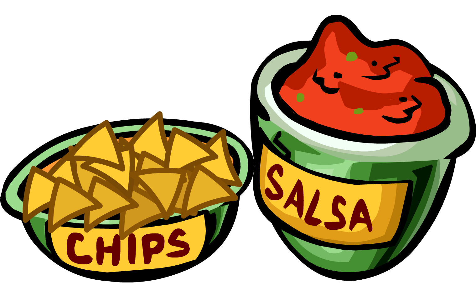 Image salsa and chips. Movie clipart nacho