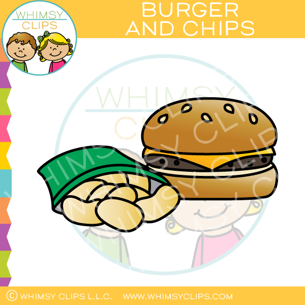 Chips clipart chipsclip. Cheeseburger and clip art