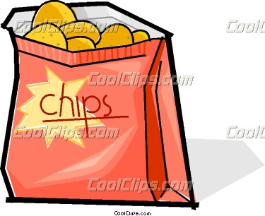 Chips clipart cute. Boy potato