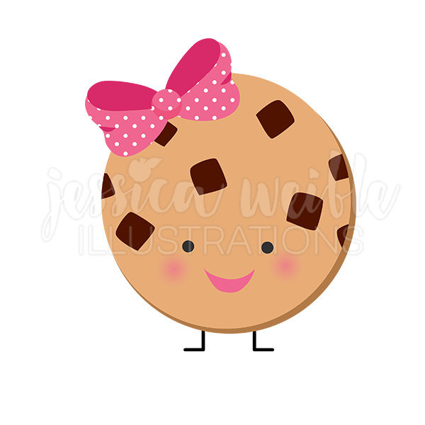 Chocolate chip cookie character. Chips clipart cute