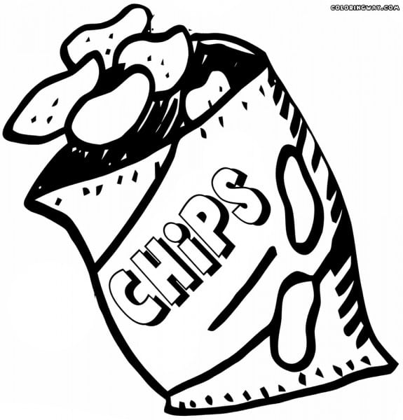 Chips clipart drawing. Potato chip at paintingvalley