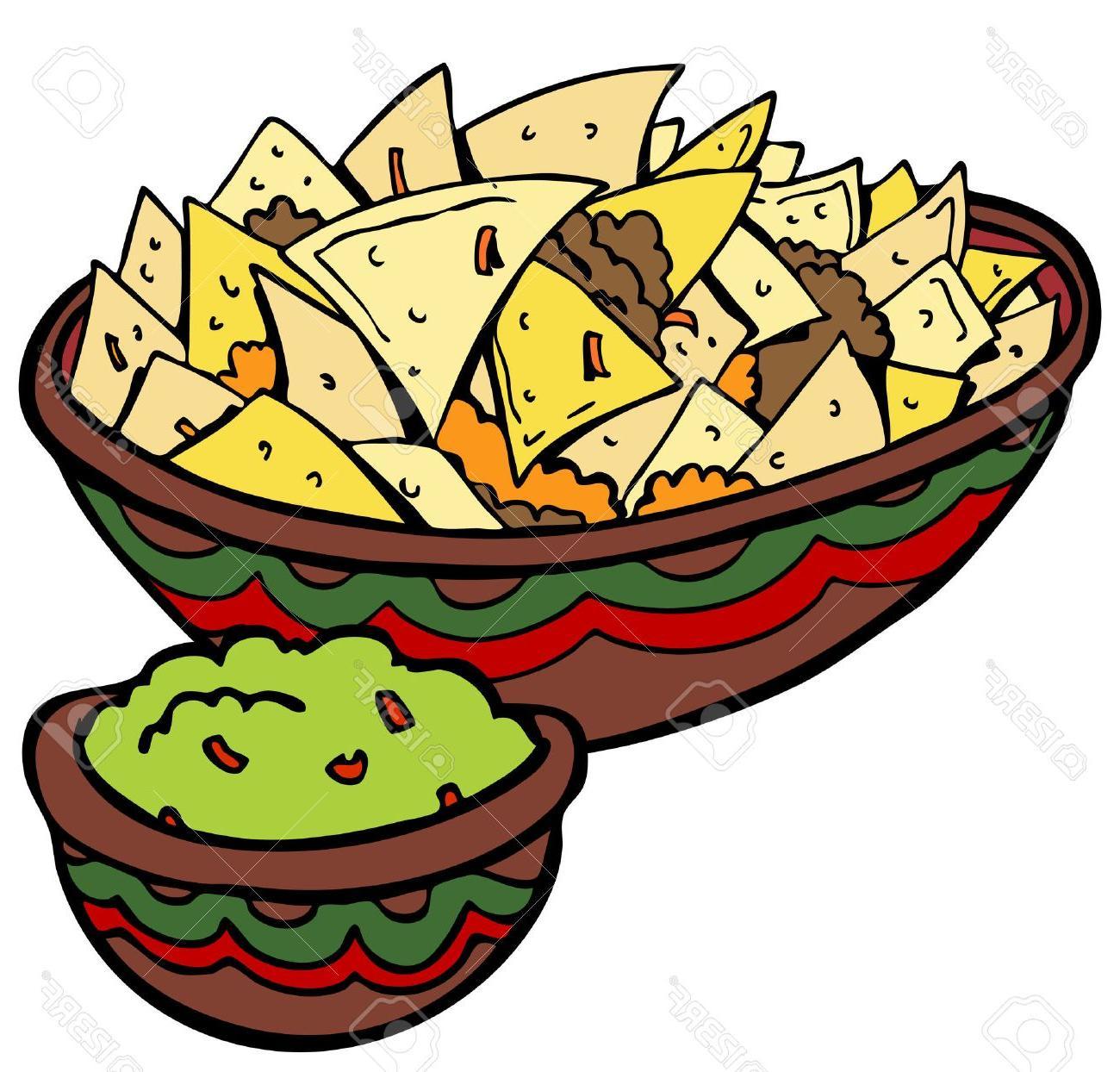 Top nachos tortilla vector. Chips clipart drawing