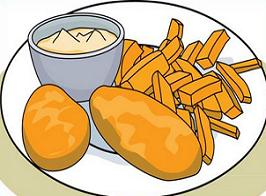 Chips clipart fish. Free and fries