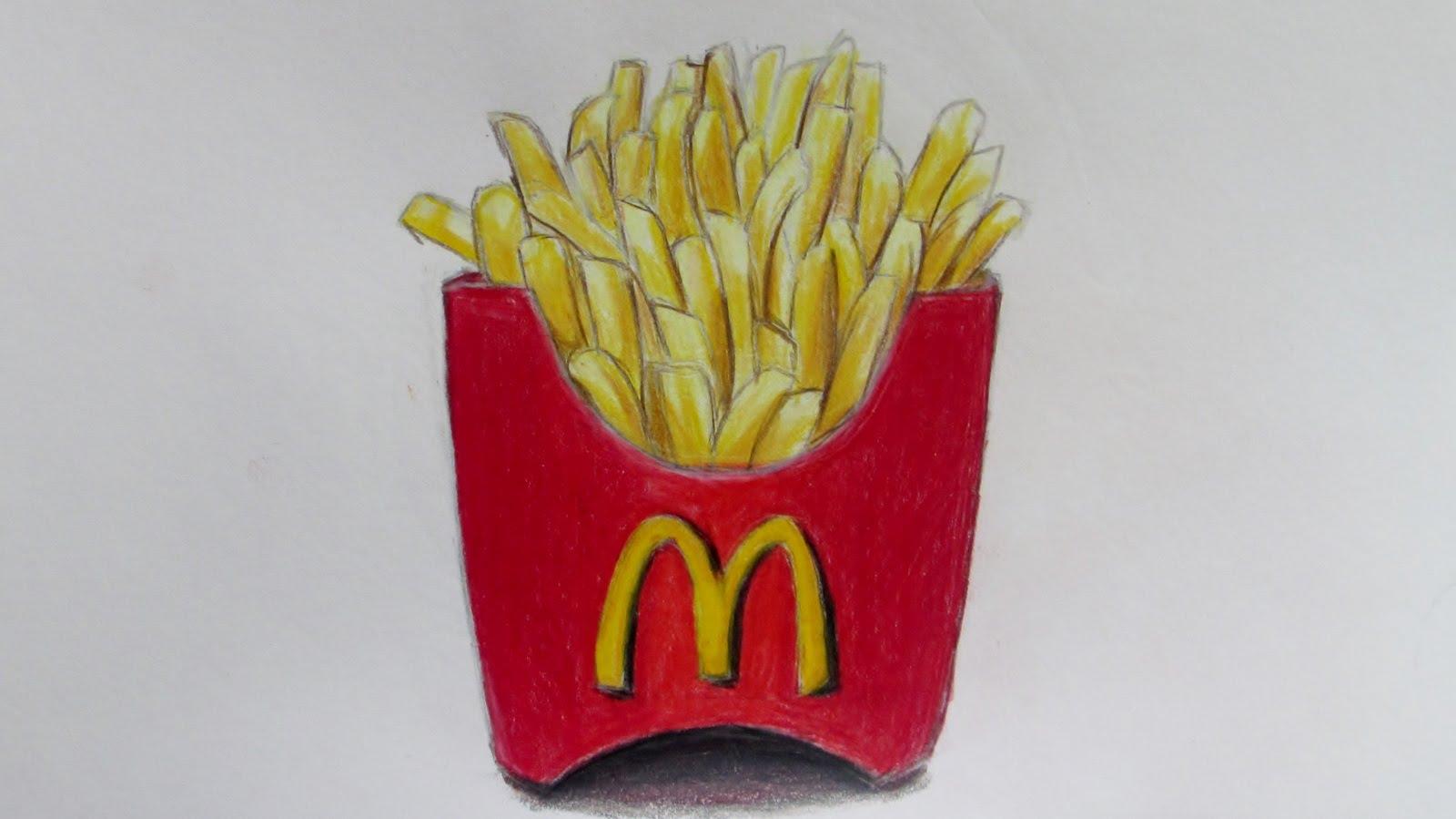 Chips clipart fry mcdonalds. Realistic mcdonald s fries