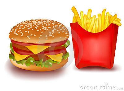 Burger and clipartuse. Chips clipart hamburger