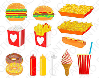 Chips clipart hot chip. Etsy fast food cclipart