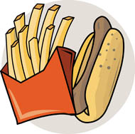 Search results for french. Chips clipart hot dog