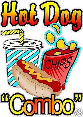 Combo restaurant concession food. Chips clipart hot dog