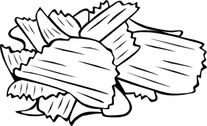 Chips clipart outline. Potato b and w