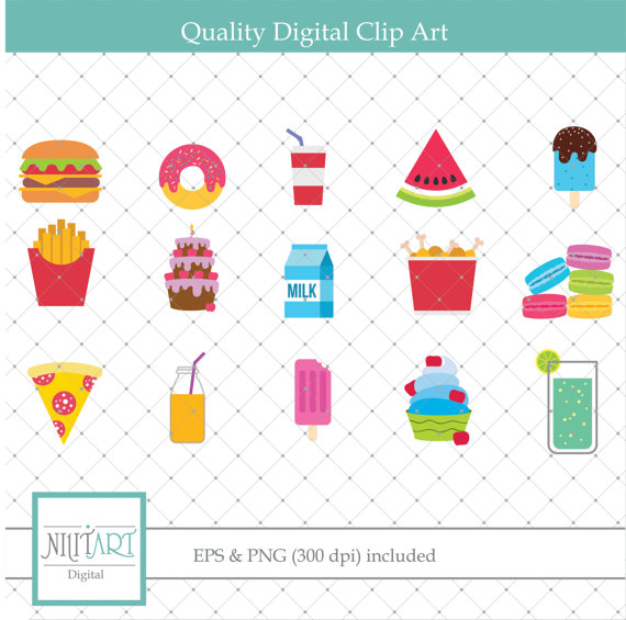 Fast food vector graphics. Chips clipart pizza