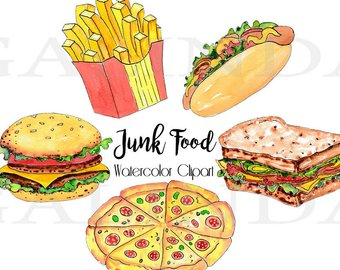 Chips clipart pizza. Hot dog etsy fast
