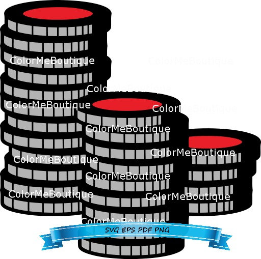 Chips clipart poker. Stacked from colormeboutique on