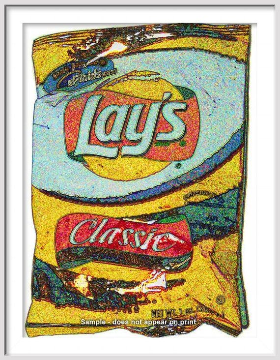 Chips clipart pop art. Lays potato large giclee