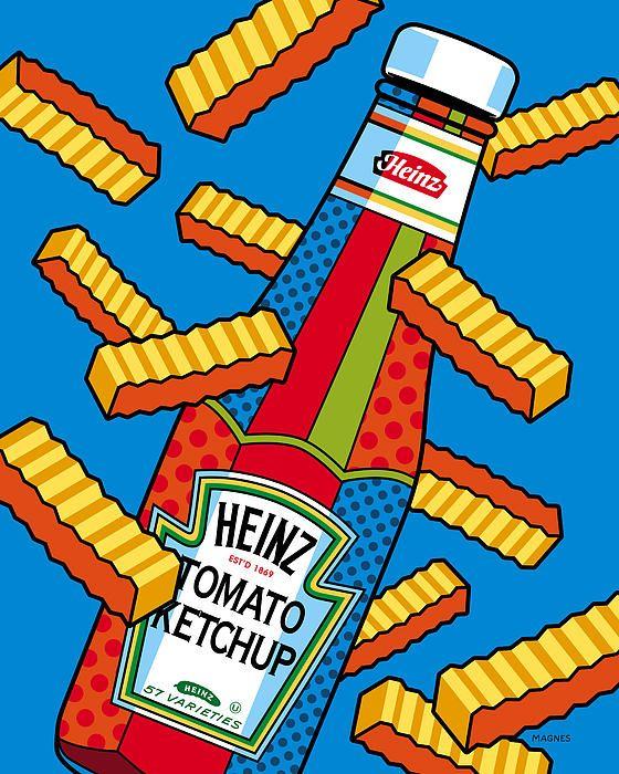 Flying fries good kitchen. Chips clipart pop art