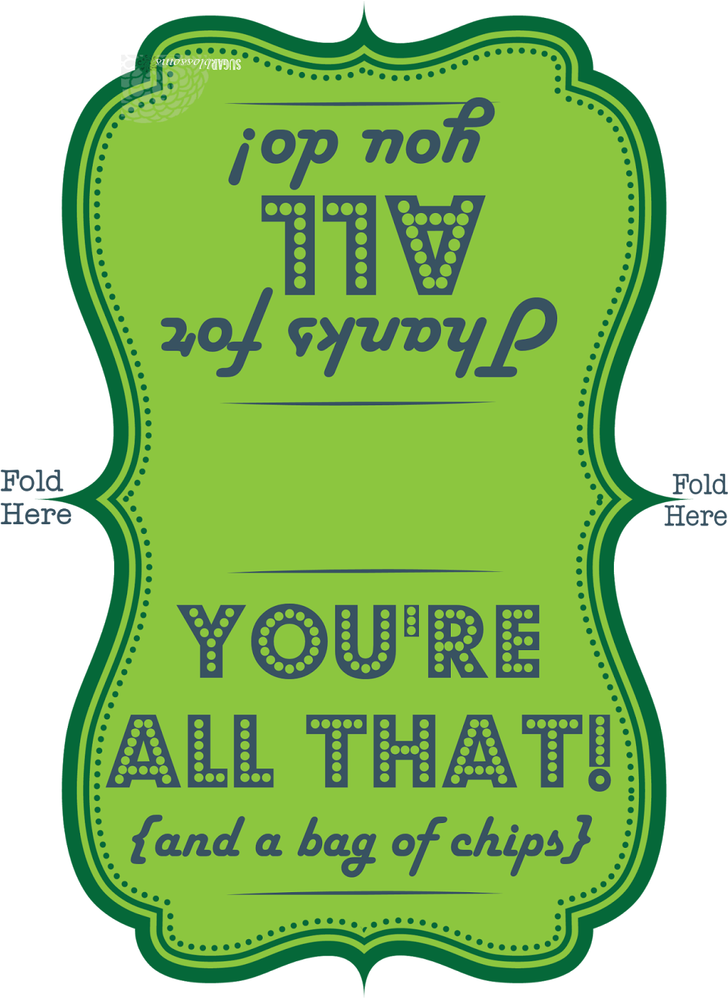 Chips clipart printable. Teacher staff appreciation youre