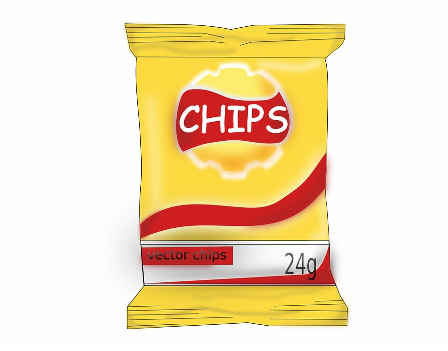 Snacks in collection potato. Chips clipart snack
