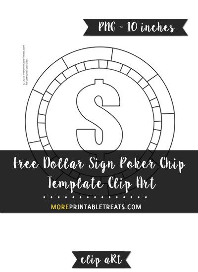 Free dollar sign poker. Chips clipart template