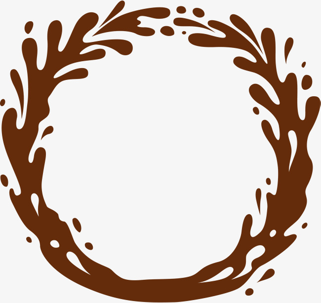 Brown simple circle texture. Chocolate clipart border