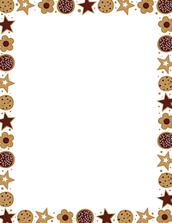 Chocolate clipart border.  collection of cookie