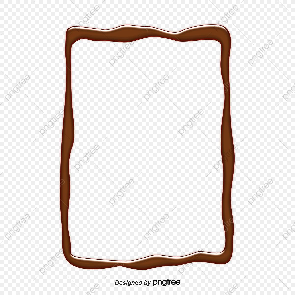 Chocolate clipart border. Design of elements illustration
