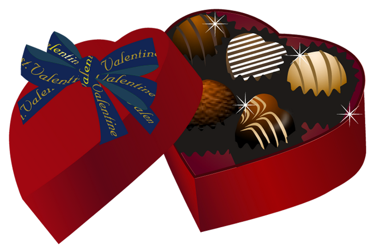 Red heart box png. Valentine clipart chocolate