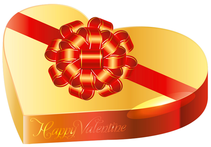 Valentine clipart chocolate. Gold box png gallery
