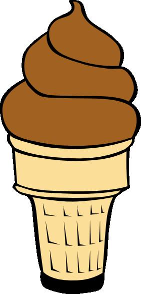Ice cream cone panda. Chocolate clipart brown object