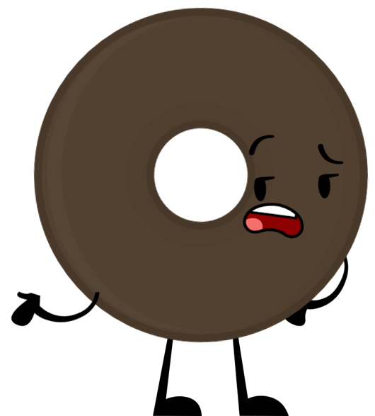 Chocolate clipart brown object. Image donut pose png