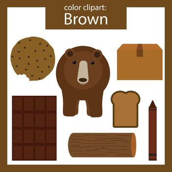 Chocolate clipart brown object. Color clip art objects