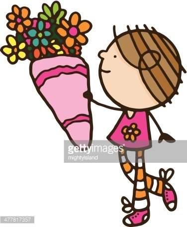 Girl holding a large. Chocolate clipart bunch