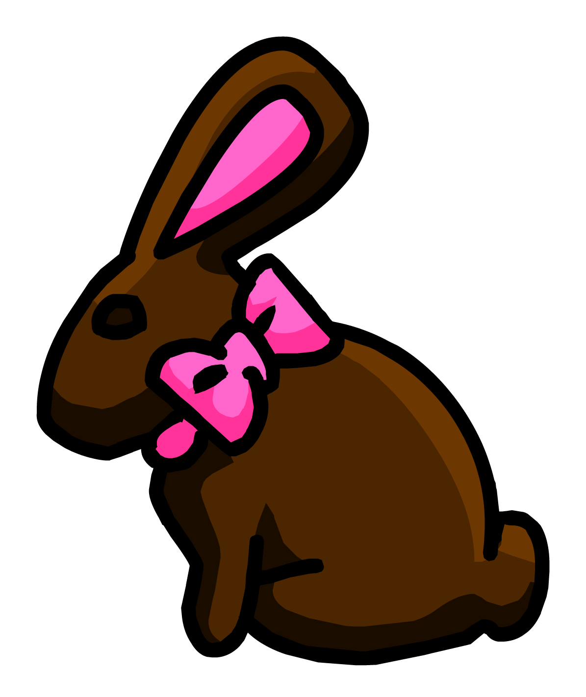 Chocolate bunny pin club. Clipart penquin easter