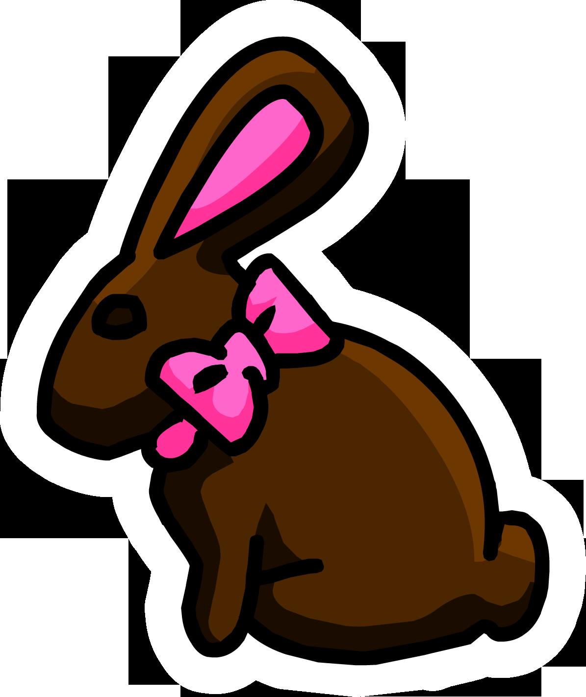 Clipart rabbit swimming. Chocolate bunny pin club