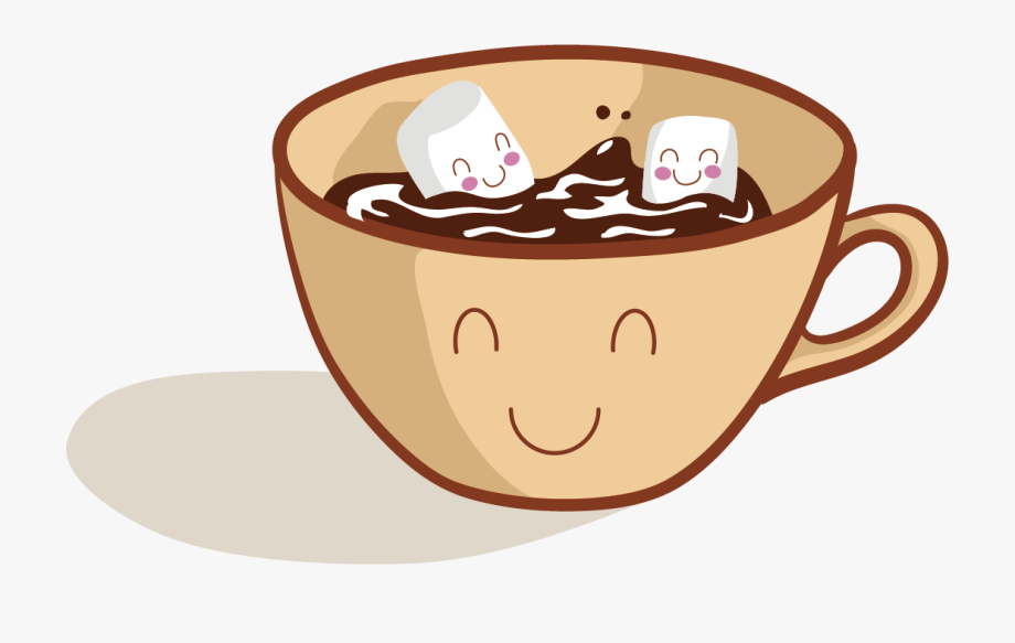 Chocolate cartoon with . Clipart coffee hot cocoa