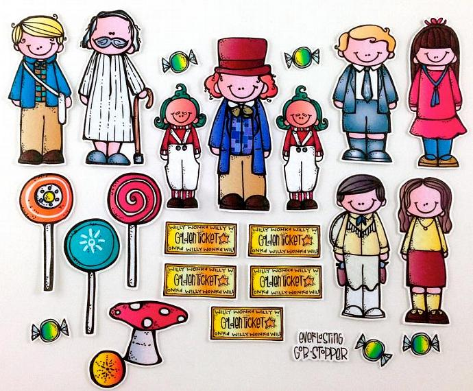 Felt board story by. Chocolate clipart charlie and the chocolate factory