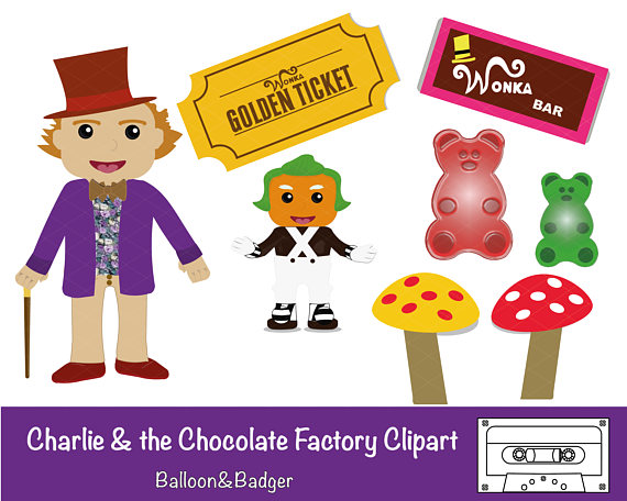 Chocolate clipart charlie and the chocolate factory. Pack