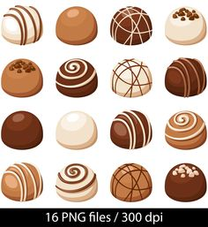 Chocolate clipart chocolate truffle. Vector set of candies
