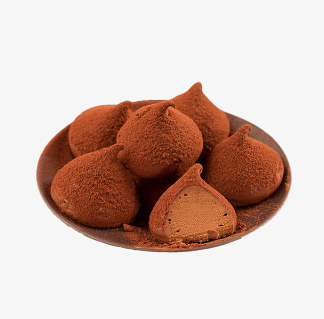 Shaped food products png. Chocolate clipart chocolate truffle