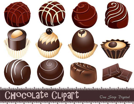 Chocolate clipart chocolate truffle. Preuzmite okolada digitalni karikatura