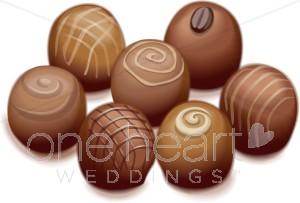 Truffles wedding. Chocolate clipart chocolate truffle