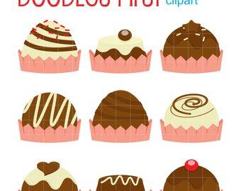 Truffles etsy clip art. Chocolate clipart chocolate truffle