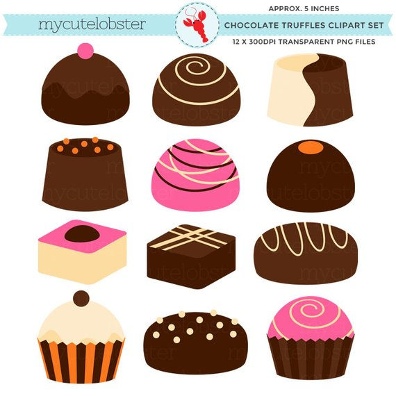 Truffles set candy sweets. Chocolate clipart chocolate truffle