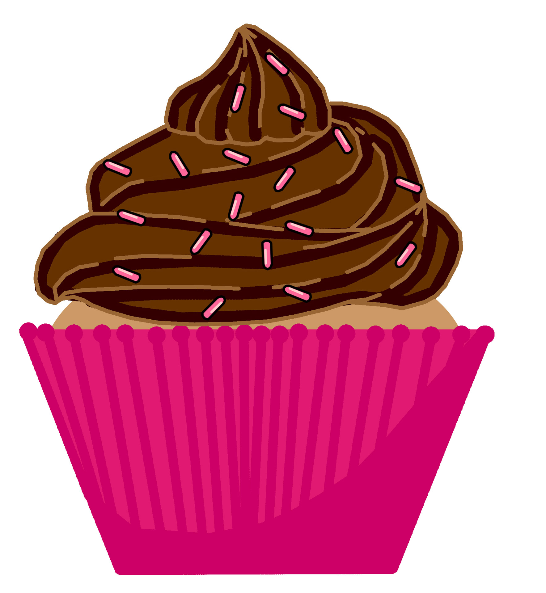Chocolate clipart clear background.  collection of cupcake