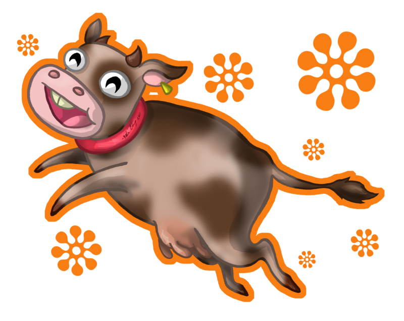 Chocolate milk by aliceapproved. Clipart cow drinking