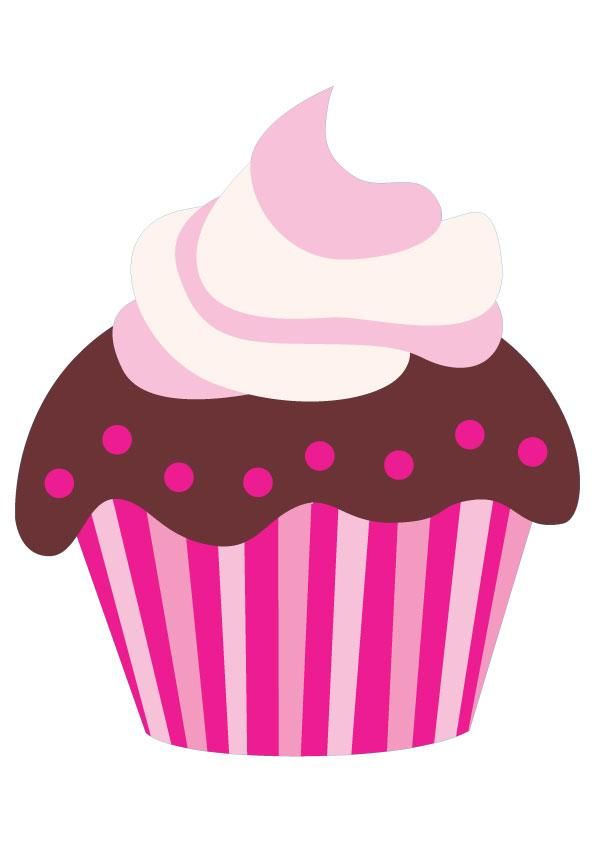Cupcake pictures cartoon pink. Chocolate clipart cute
