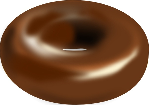Chocolate clipart drawing. Donut clip art free