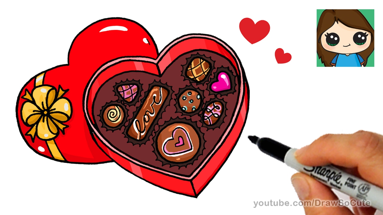 Chocolate clipart drawing. Box at getdrawings com